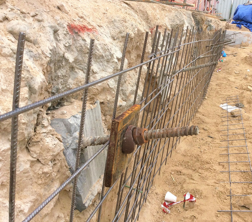 Rock Soil Anchoring System : Ground anchors soil nails rock bolts atlas foundations